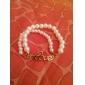 Vintage Imitation pearls 17cm Women's  Alloy Charm Bracelet (1 Pc)