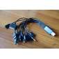 All-in-1 Universal USB Sync Cable USB Charger Cable(0.24m)