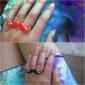 Z&X®  Little Evil Moustache Double Finger Ring