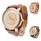 Women's Watch Fashion Big Dial PU Band