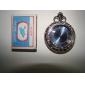 reloj de los hombres de aleación analógico mecánico de bolsillo (plata)