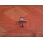 colar eruner®titanium classica aço estilo cruz pendente do homem (cor aleatória)