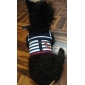 개를위한 조정 귀여운 해군 패턴 마구 및 가죽 끈 (XS-XL)