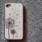 Dandelion Pattern Rhinestones Aluminium Case for iPhone 4 and 4S (Assorted Colors)