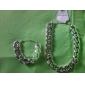 Набор украшений Мода европейский Серебрянное покрытие Черный Серебряный Золотой Ожерелья Браслеты ДляДля вечеринок Особые случаи День