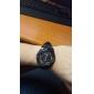 homme en plastique montre bracelet à quartz analogique (noir)