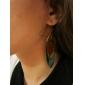 Boucles d'oreille goutte Alliage Bohême Plume Paon Vert Bijoux Quotidien