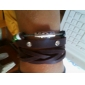 Z&X® Beads Crystal Rivet Leather Bracelet