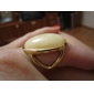 European And American Fashion Elegant Temperament Gold Gemstone Ring