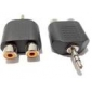 audio 3.5mm male lyd til 2 x RCA hunn adapter