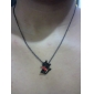 Women's Korean fashion red bow kitty necklace N541