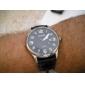 Unisexe PU Montre analogique bracelet à quartz avec calendrier (couleurs assorties)