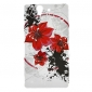 Red Flower Pattern Protective Soft TPU Case Soft Case for Sony Xperia Z L36h