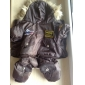 Dog Coat / Hoodie / Clothes/Jumpsuit Red / Blue / Brown Dog Clothes Winter Police/Military Fashion / Keep Warm