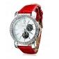 PU quartz analogique montre-bracelet des femmes (couleurs assorties)