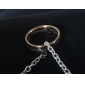 Gold Titanium Steel Band Ring with Ring Design Laser Engraving Christmas Gifts