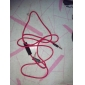 3.5mm 4-cores to 3-cores Copper Wire Headphone Red Cable with Microphone (1M)