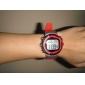 Klocka Kaloriräknare,Hjärtfrekvensmätare, Alarm - Röd