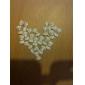 20PCS 3D 화이트 수지 모조 다이아몬드 Bowknot는 네일 장식