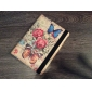 Peony Butterfly Pattern PU Leather Face and PC Back Cover 360° Rotating Full Body Case for iPad Air