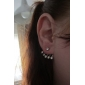 Stud Earrings Alloy Fashion Silver Jewelry Wedding Party Daily 1pc