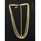 shixin® étnica cadeia de três camadas com Tessel headbands liga de ouro para as mulheres (1 pc)