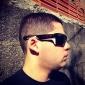 classiques cas lunettes de soleil (noir)