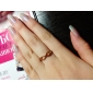 Gold Plated Alloy Iinfinite Pattern Ring