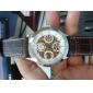 Men's Auto-Mechanical PU Band Analog Wrist Watch (Assorted Colors)