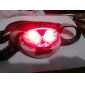 4 hvite LED og 2 røde LED 4-modus hodelykt (3xAAA)