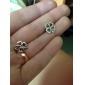 Lucky Four Leaf Clover Cercei argint