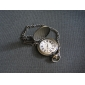 Men's Grandpa Pattern Bronze Alloy Quartz Pocket Watch Cool Watch Unique Watch