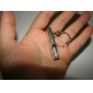 Silver Firm/Durable Alloy Key Chain with Whistle