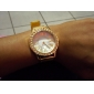 Mulheres Relógio Elegante Relógio de Moda Relógio de Pulso Quartzo Strass imitação de diamante Lega Banda Brilhante Flor DouradaDourado