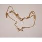 Fashion Sweet Flash Rhinestone Ribbon Necklace