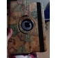 Elegant Map Design Rotating PU Leather Case with Stand for iPad Air iPad 5 (Assorted Color)