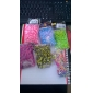 BaoGuang®500pcs Rainbow Color Loom Colorful Fashion Loom Rubber Band(1Package S Clip)