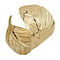 Fashion Alloy Metal Gold Leaf Cuff Bangle