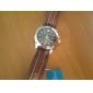Julius Men's Calendar Round Dial Leather Band Quartz Analog Wrist Watch (Assorted Color)