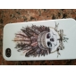 Cool Skull with Feather Hat Case for iPhone 4/4S