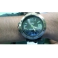 Men's Watch Military Green Bronze Silicone Strap