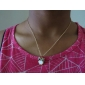 Women's Pendant Necklaces Alloy Simulated Diamond Shell Fashion Golden Jewelry Party Halloween 1pc