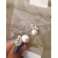 Boucles d'oreille goujon Basique Mode Le style mignon Perle Alliage Forme d'Animal Papillon Blanc/Argent Bijoux PourSoirée Quotidien