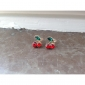 Stud Earrings Crystal Alloy Red Jewelry Daily