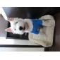 Cães Camiseta Azul Roupas para Cães Verão Desenhos Animados