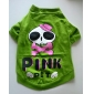 Dog Shirt / T-Shirt Green Spring/Fall Skulls
