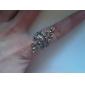 Leaves Shaped Diamond RingImitation Diamond Birthstone