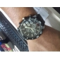 Men's Watch Military Big Round Dial Fabric Band