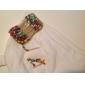 Bohemian Style Alloy Bead Multi-rækken Bracelet (assorterede farver)