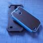 2에서 1 디자인 육각형 패턴 삼성 갤럭시 S4 미니 i9190에 대한 커버 안쪽에 실리콘 하드 케이스
